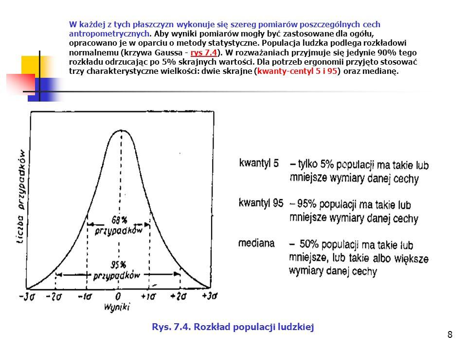 8 W każdej z tych płaszczyzn wykonuje się szereg pomiarów poszczególnych cech antropometrycznych.
