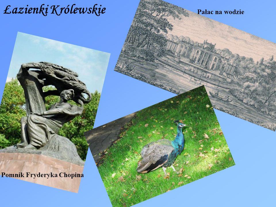 Łazienki Królewskie Pomnik Fryderyka Chopina Pałac na wodzie