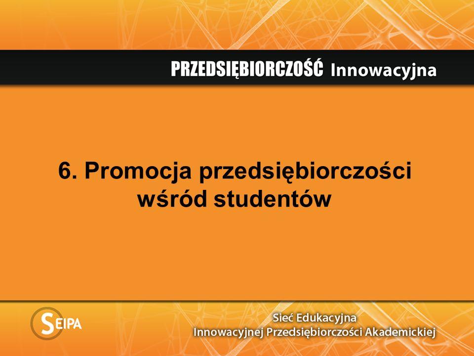 6. Promocja przedsiębiorczości wśród studentów