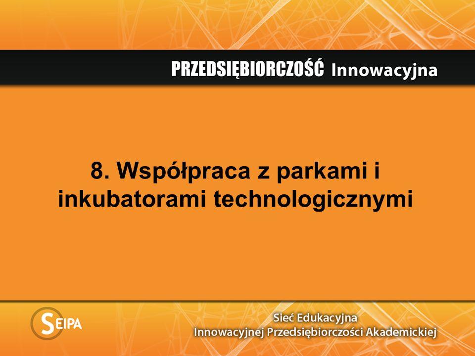 8. Współpraca z parkami i inkubatorami technologicznymi