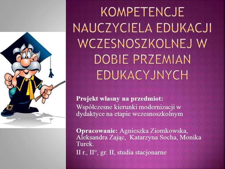  Bębas S, Nowoczesny nauczyciel edukacji wczesnoszkolnej i przedszkolnej.