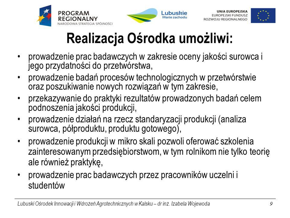 Lubuski Ośrodek Innowacji i Wdrożeń Agrotechnicznych w Kalsku – dr inż.