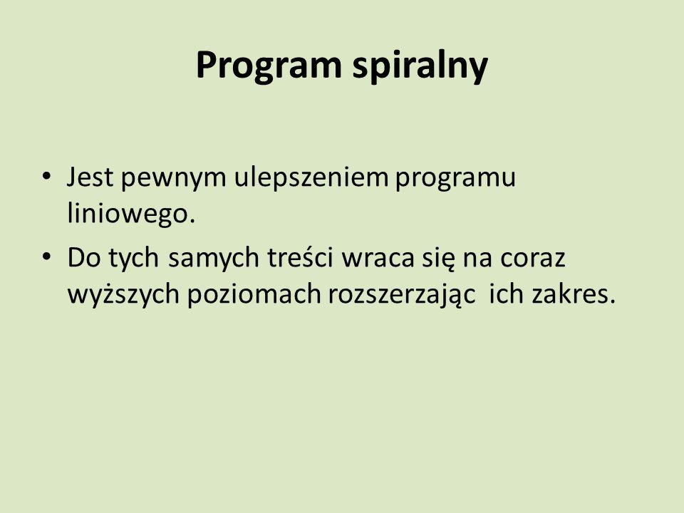 Program spiralny Jest pewnym ulepszeniem programu liniowego.