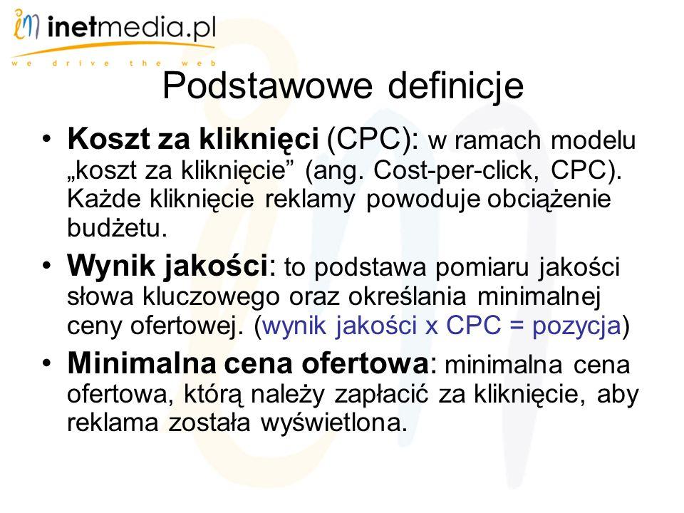 """Podstawowe definicje Koszt za kliknięci (CPC): w ramach modelu """"koszt za kliknięcie (ang."""