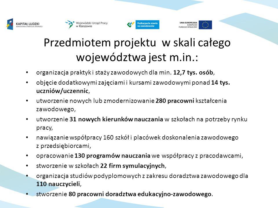 organizacja praktyk i staży zawodowych dla min. 12,7 tys.