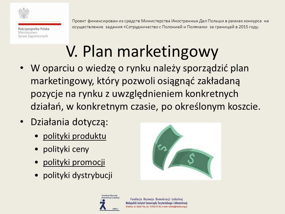 W oparciu o wiedzę o rynku należy sporządzić plan marketingowy, który pozwoli osiągnąć zakładaną pozycje na rynku z uwzględnieniem konkretnych działań, w konkretnym czasie, po określonym koszcie.