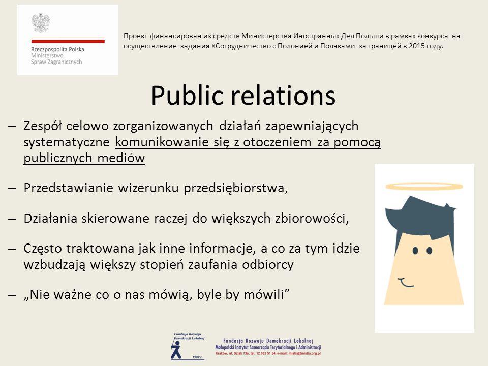 – Prasowa – wywiad z dyrektorem/właścicielem – Reportaż w TV – Artykuł w prasie, internecie, itp.