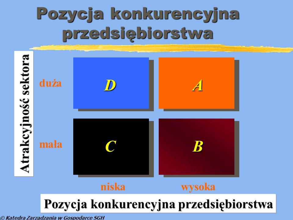 © Katedra Zarządzania w Gospodarce SGH Macierz ABCD