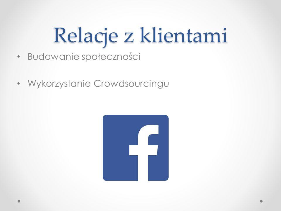 Relacje z klientami Budowanie społeczności Wykorzystanie Crowdsourcingu