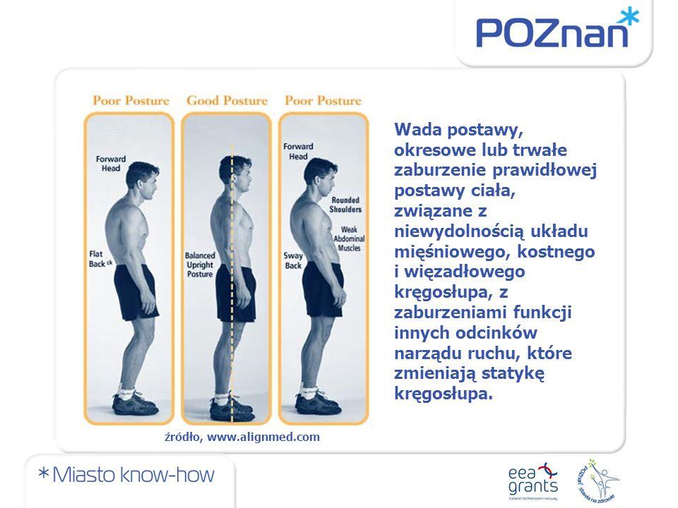Wada postawy, okresowe lub trwałe zaburzenie prawidłowej postawy ciała, związane z niewydolnością układu mięśniowego, kostnego i więzadłowego kręgosłupa, z zaburzeniami funkcji innych odcinków narządu ruchu, które zmieniają statykę kręgosłupa.