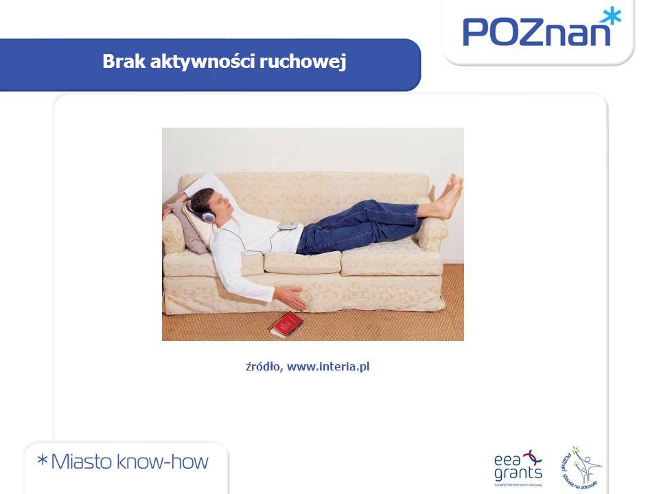 Brak aktywności ruchowej źródło, www.interia.pl