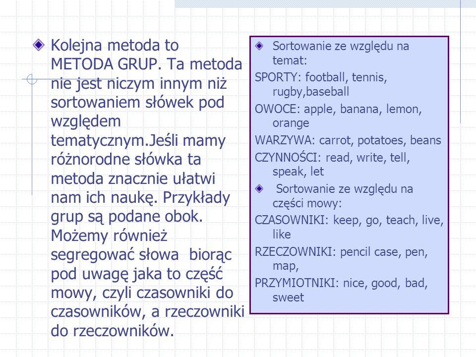 Kolejna metoda to METODA GRUP.