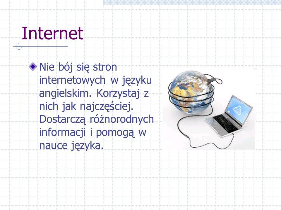 Internet Nie bój się stron internetowych w języku angielskim.