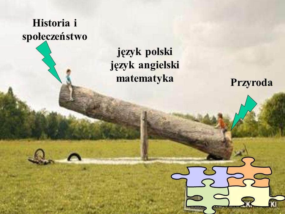 Historia i społeczeństwo język polski język angielski matematyka Przyroda
