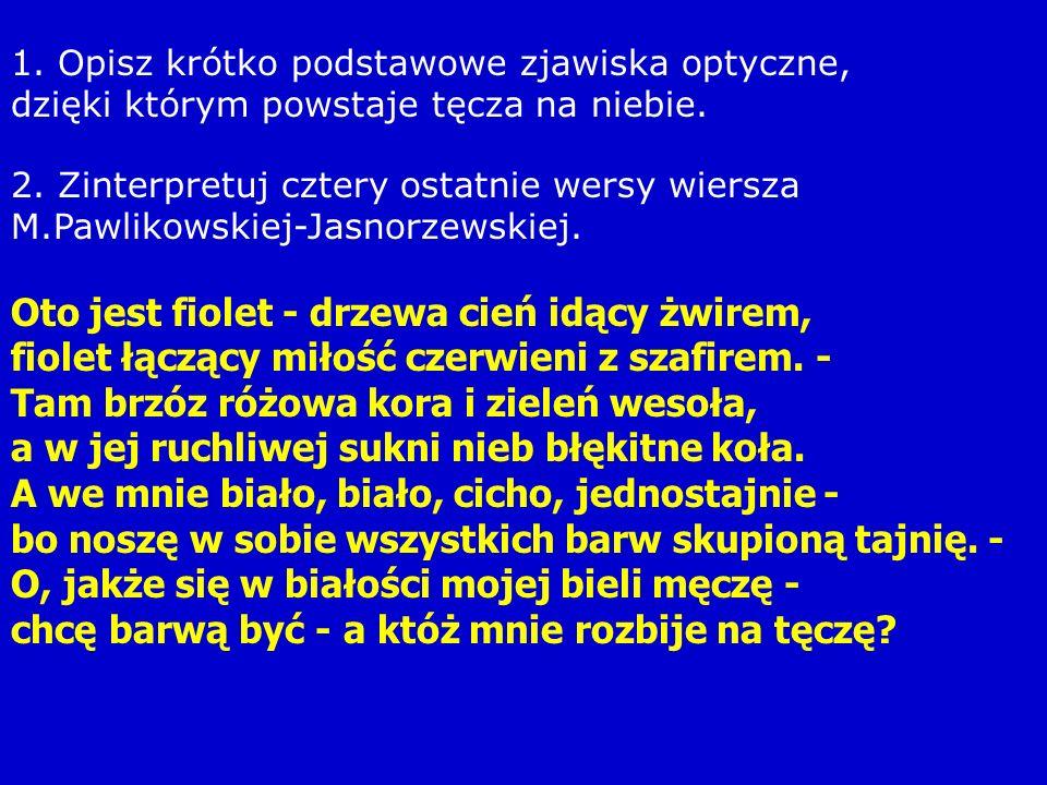 2. Zinterpretuj cztery ostatnie wersy wiersza M.Pawlikowskiej-Jasnorzewskiej.