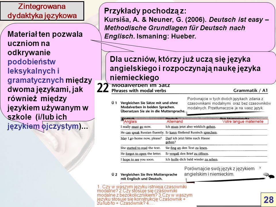 Przykłady pochodzą z: Kursiša, A. & Neuner, G. (2006).