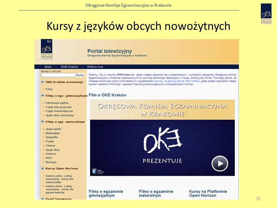 Okręgowa Komisja Egzaminacyjna w Krakowie Kursy z języków obcych nowożytnych 11