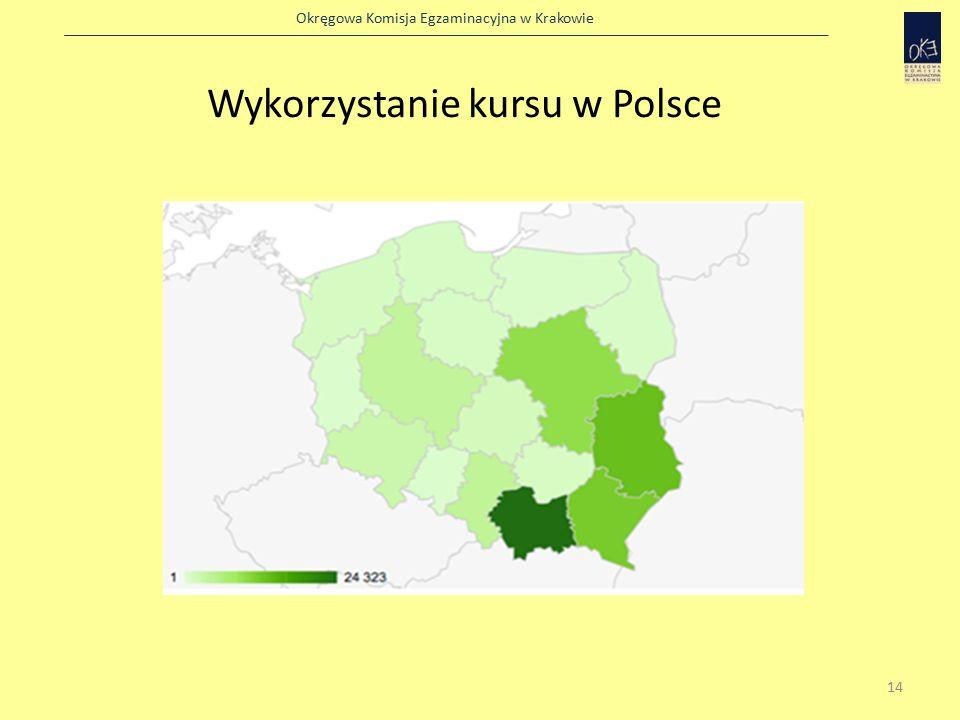 Okręgowa Komisja Egzaminacyjna w Krakowie Wykorzystanie kursu w Polsce 14