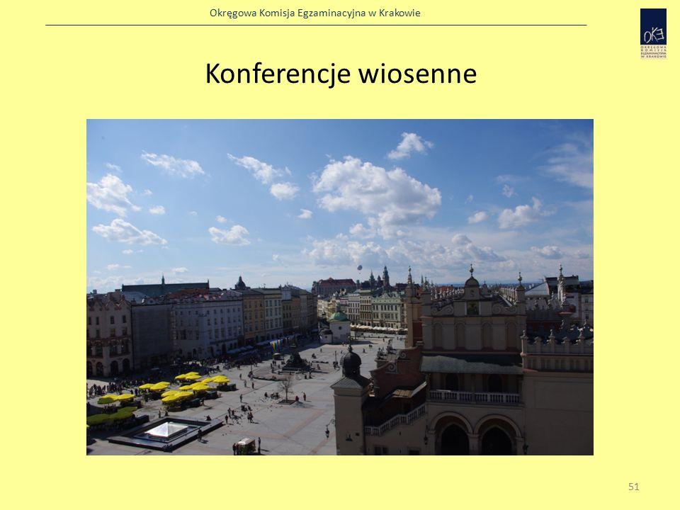 Okręgowa Komisja Egzaminacyjna w Krakowie Konferencje wiosenne 51