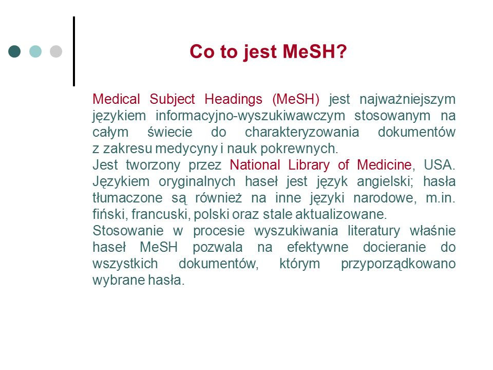 Co to jest MeSH.