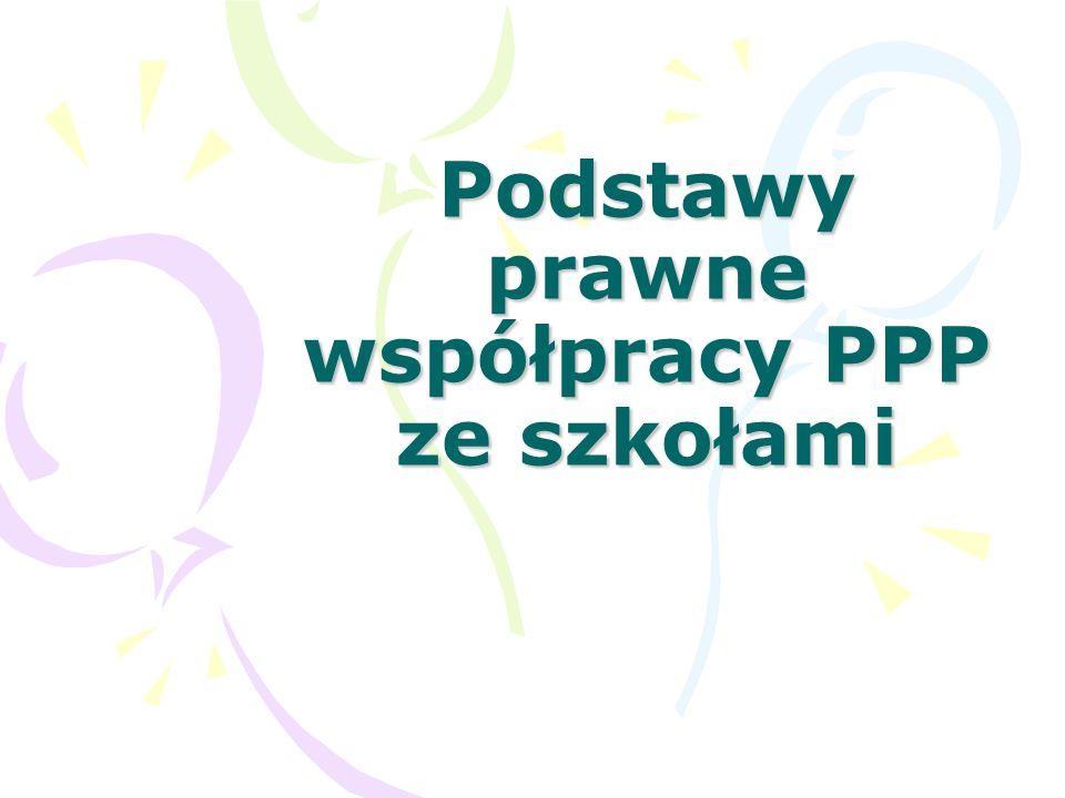 Podstawa prawna działania Poradni ROZPORZĄDZENIE MINISTRA EDUKACJI NARODOWEJ z dnia 1 lutego 2013 r.