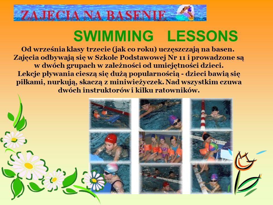 Od września klasy trzecie (jak co roku) uczęszczają na basen.