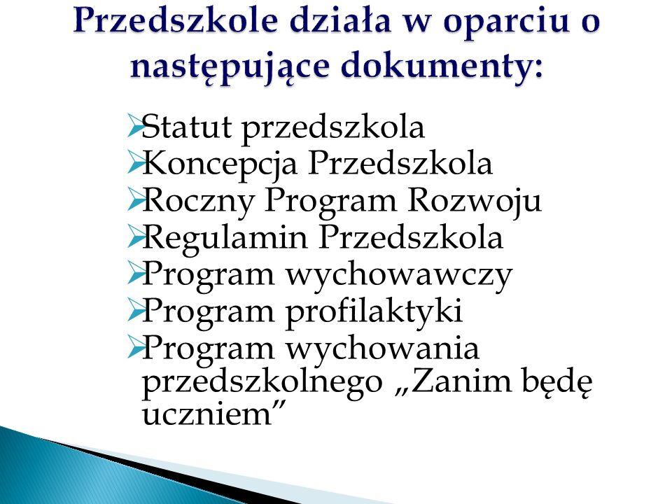  Określa cele i zadania pracy dydaktyczno- wychowawczej i opiekuńczej na lata 2013 – 2018.