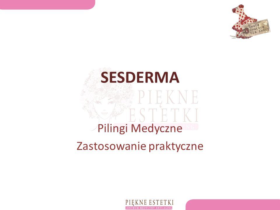 SESDERMA Pilingi Medyczne Zastosowanie praktyczne