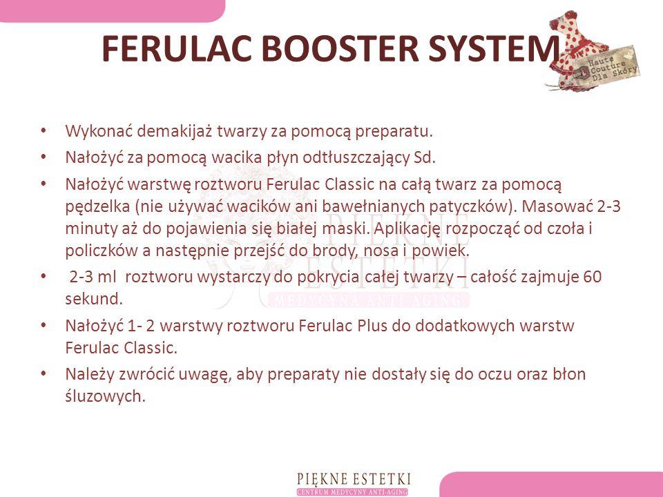 FERULAC BOOSTER SYSTEM Wykonać demakijaż twarzy za pomocą preparatu.