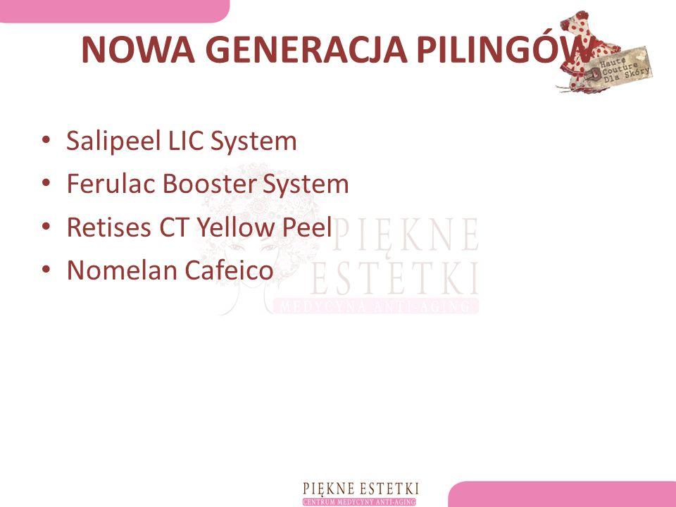 NOWA GENERACJA PILINGÓW Salipeel LIC System Ferulac Booster System Retises CT Yellow Peel Nomelan Cafeico