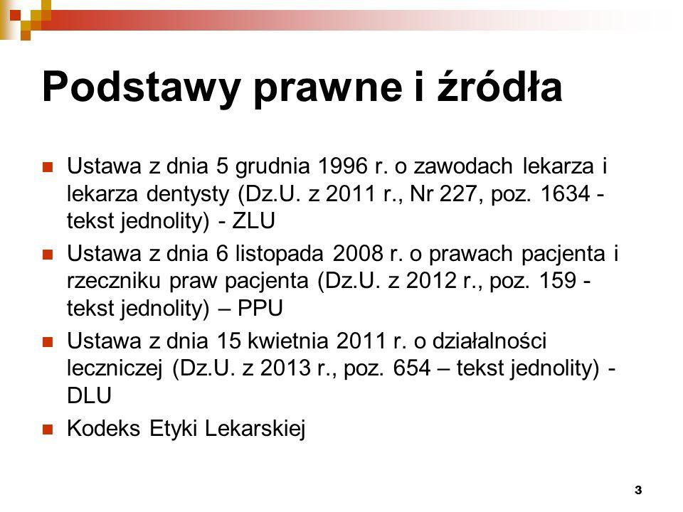 Podstawy prawne i źródła Ustawa z dnia 5 grudnia 1996 r.