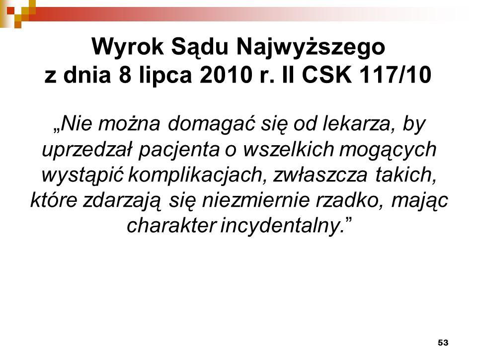 Wyrok Sądu Najwyższego z dnia 8 lipca 2010 r.