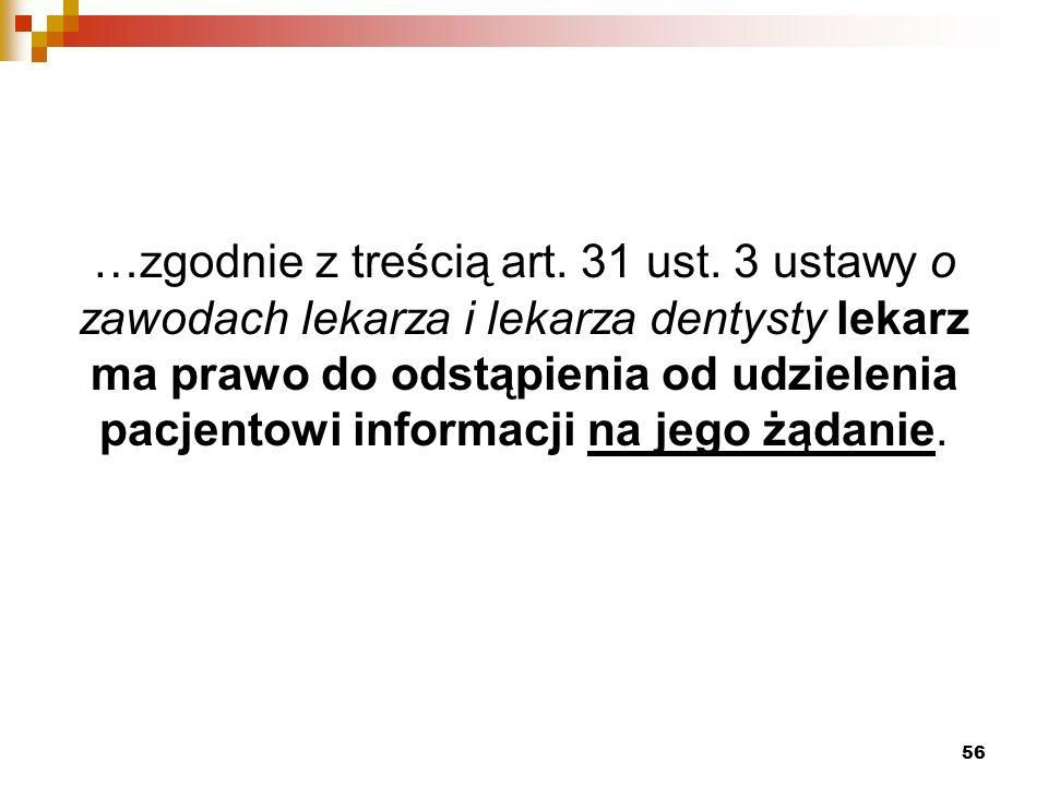 …zgodnie z treścią art. 31 ust.