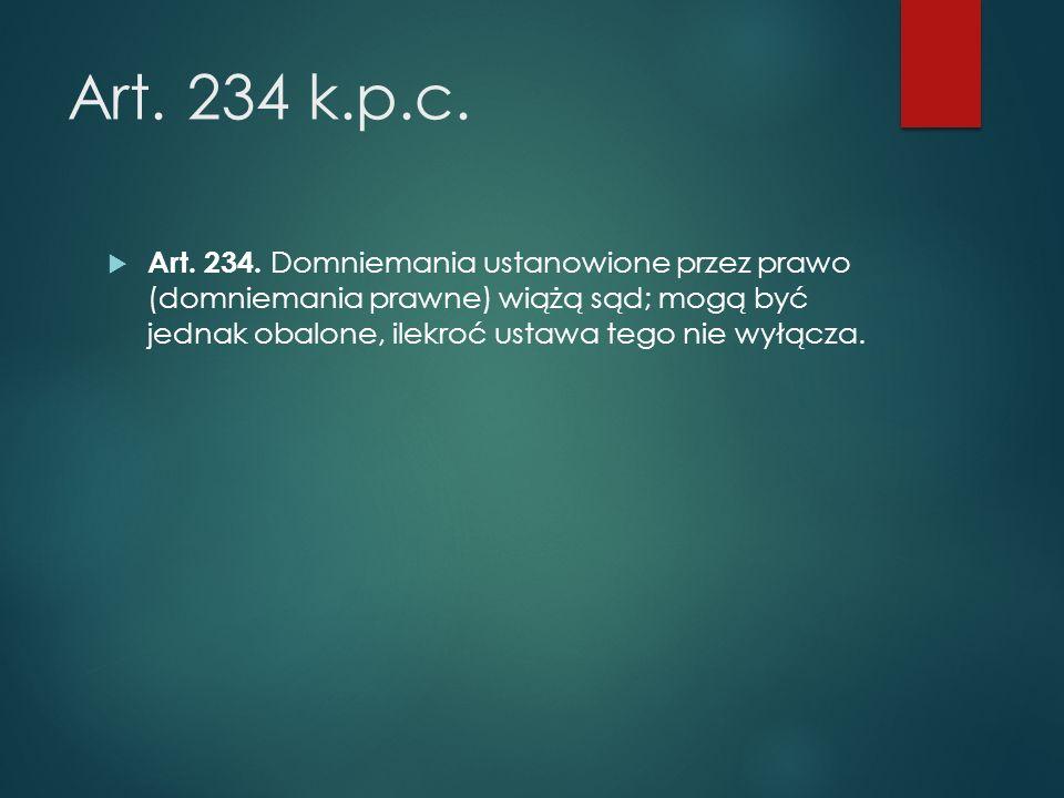 Art. 234 k.p.c.  Art. 234.
