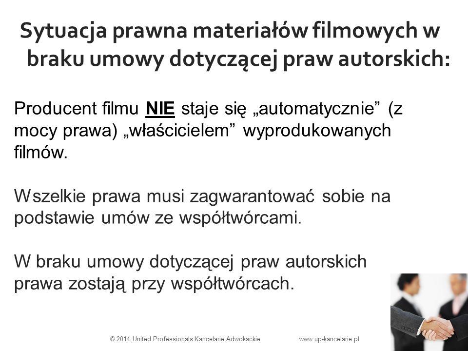 """Sytuacja prawna materiałów filmowych w braku umowy dotyczącej praw autorskich: Producent filmu NIE staje się """"automatycznie (z mocy prawa) """"właścicielem wyprodukowanych filmów."""