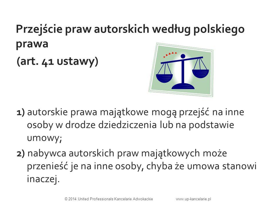 Przejście praw autorskich według polskiego prawa (art.