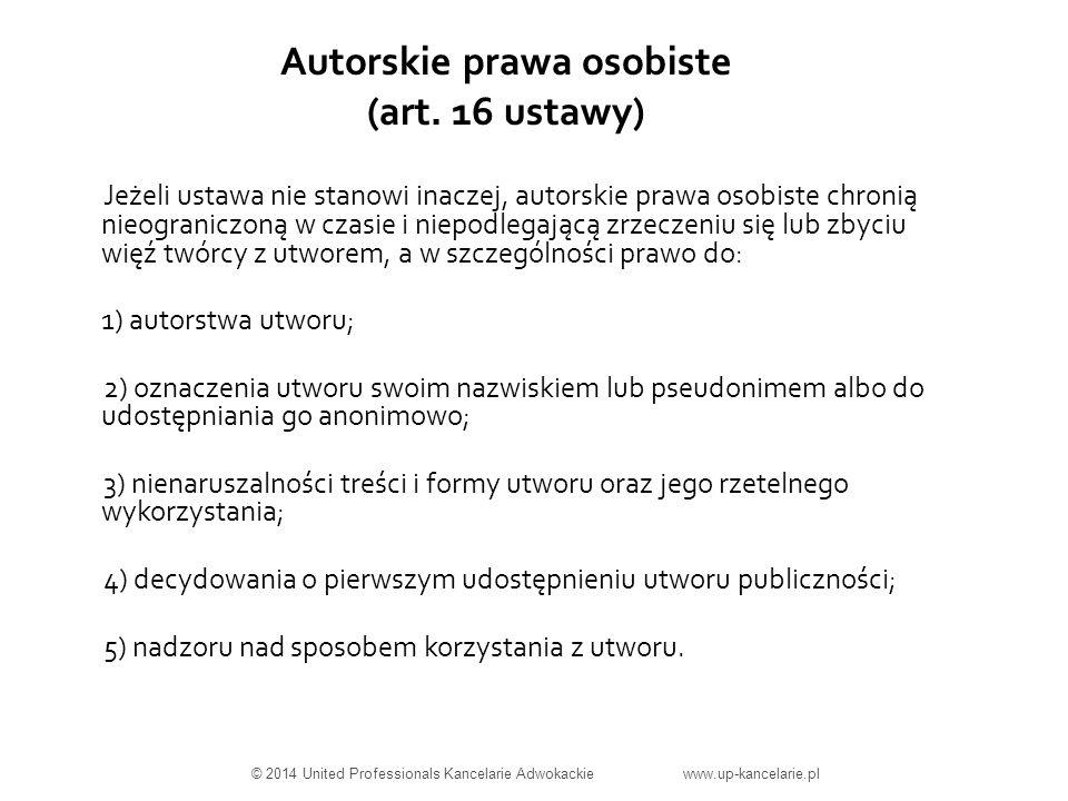 Autorskie prawa osobiste (art.