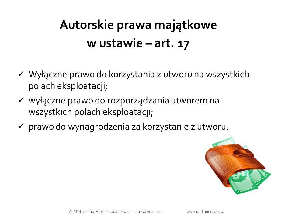 Autorskie prawa majątkowe w ustawie – art.