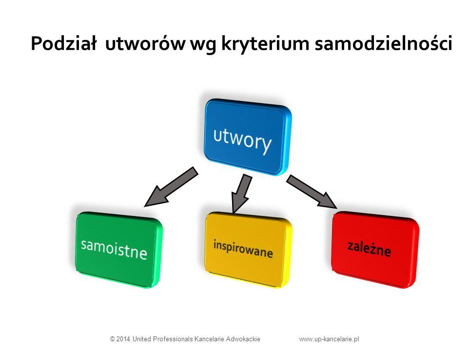 Podział utworów wg kryterium samodzielności © 2014 United Professionals Kancelarie Adwokackie www.up-kancelarie.pl
