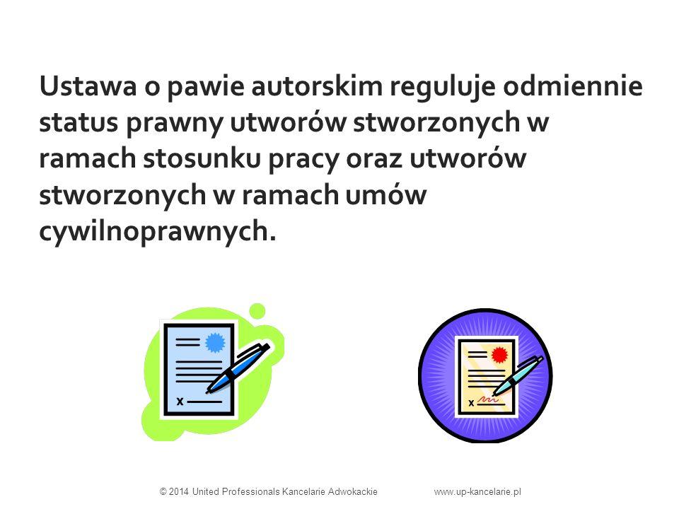 Ustawa o pawie autorskim reguluje odmiennie status prawny utworów stworzonych w ramach stosunku pracy oraz utworów stworzonych w ramach umów cywilnoprawnych.