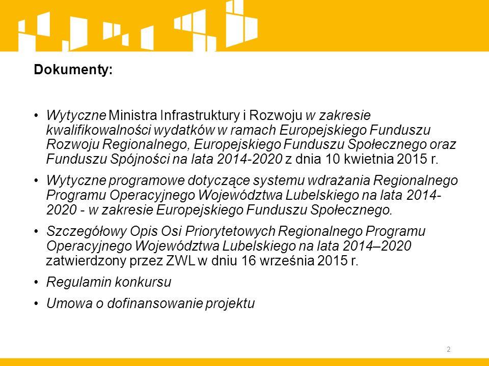 Zasięg geograficzny kwalifikowalności dla EFS Co do zasady projekty w ramach EFS są realizowane wyłącznie na terytorium kraju na obszarze objętym RPO WL (z zastrzeżeniem zapisów Podrozdziału 1.1.