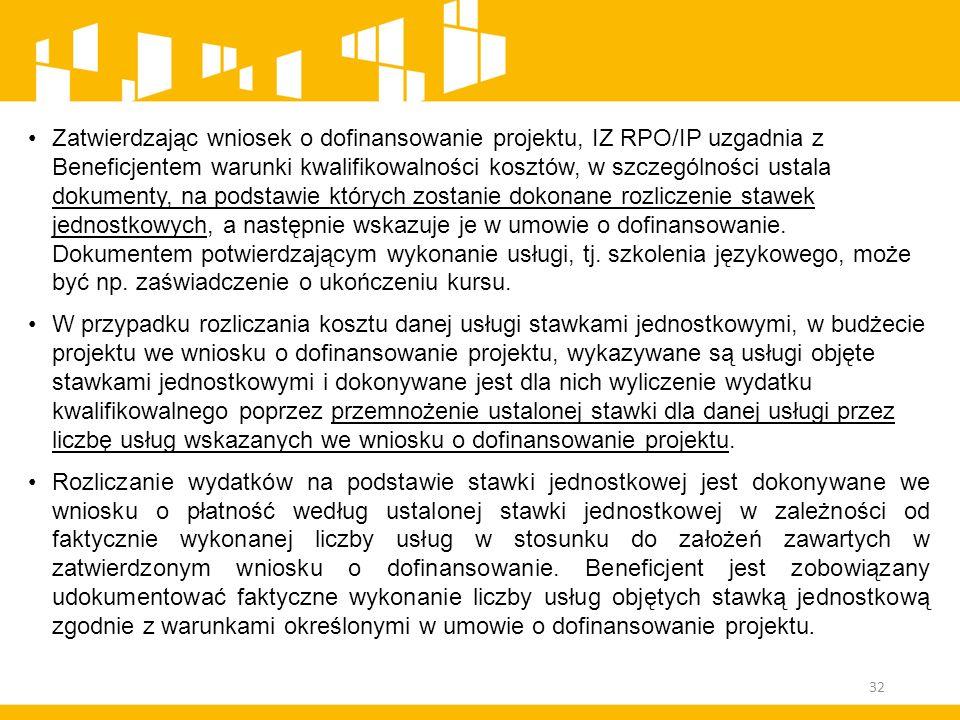 Zatwierdzając wniosek o dofinansowanie projektu, IZ RPO/IP uzgadnia z Beneficjentem warunki kwalifikowalności kosztów, w szczególności ustala dokument