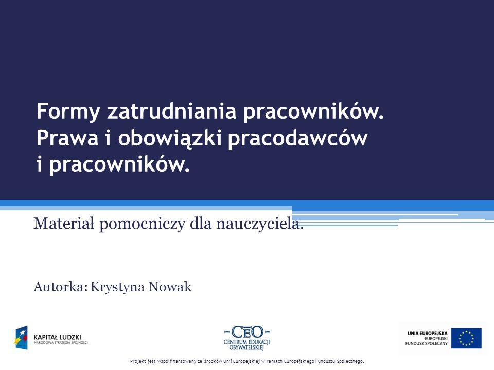 Bibliografia.1.Jakie są rodzaje umów o pracę, http://poradnik.ngo.pl/x/503467.
