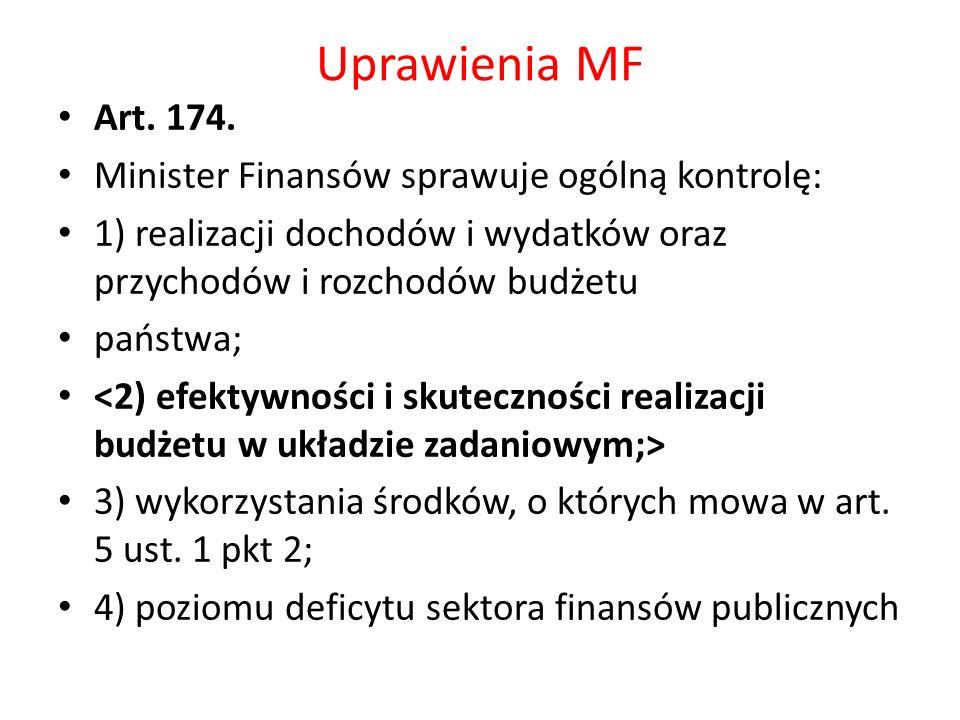 Uprawienia MF Art. 174.