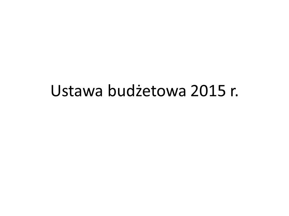 Ustawa budżetowa 2015 r.