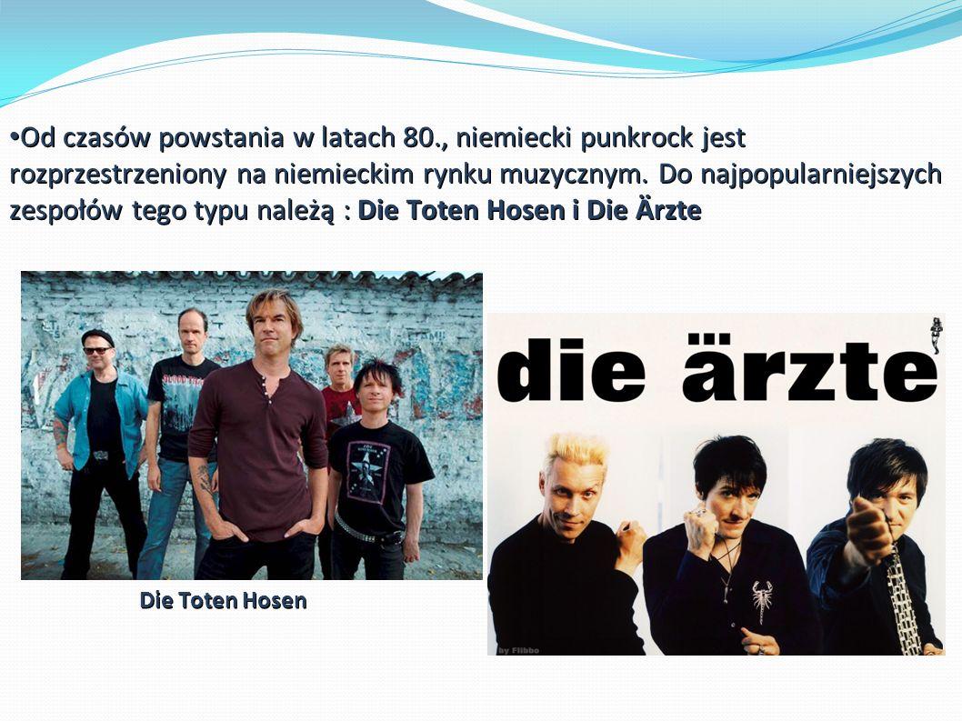 Od czasów powstania w latach 80., niemiecki punkrock jest rozprzestrzeniony na niemieckim rynku muzycznym.
