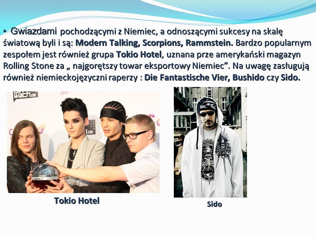 Gwiazdami pochodzącymi z Niemiec, a odnoszącymi sukcesy na skalę światową byli i są: Modern Talking, Scorpions, Rammstein.