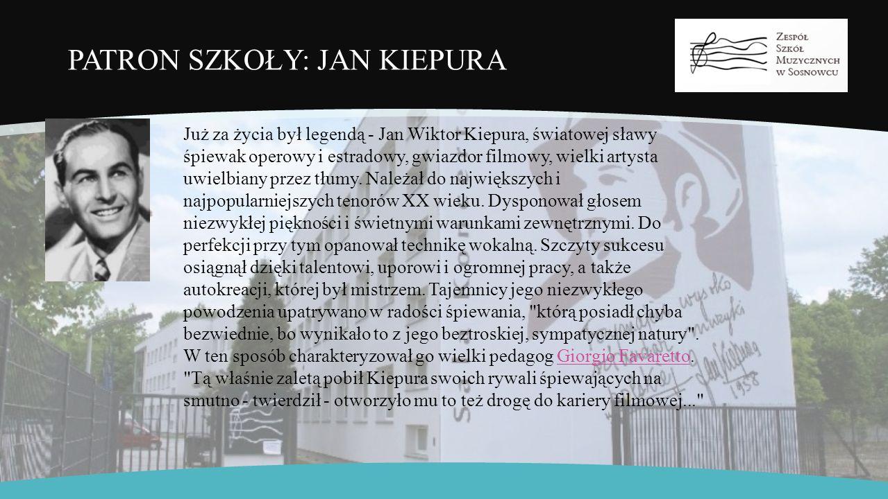 PSM I ST.IM. J. KIEPURY Państwowa Szkoła Muzyczna I stopnia im.