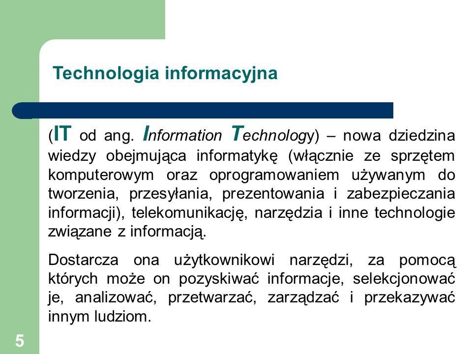 6 Rola technologii informacyjnej Za kilka lat prostych problemów życiowych nie rozwiąże osoba, która nie będzie umiała sprawnie korzystać z nowoczesnych urządzeń.