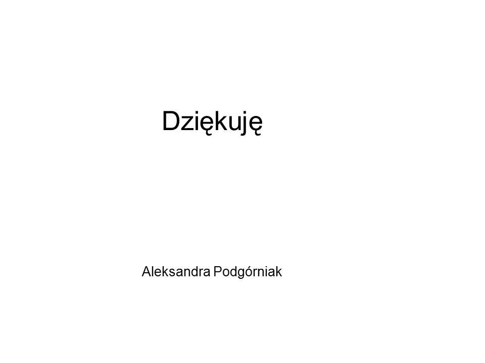 Dziękuję Aleksandra Podgórniak